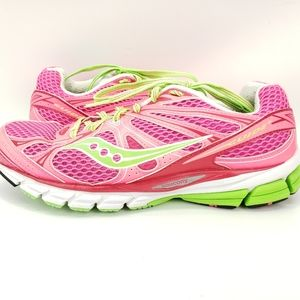 SAUCONY Guide 6 Pink Green Running Athletic shoes